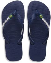 Havaianas Brazil Logo Men's Sandal in Navy Blue