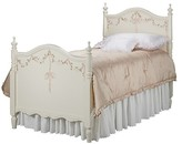 The Well Appointed House Hand Painted Finial Bed with Ribbon and Roses Motif