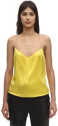 ANOUKI Cross Back Silk Camisole Top