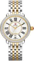 Michele Serein Mid Two-Tone Diamond Watch