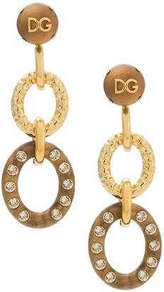 Dolce & Gabbana Ring Drop Earrings