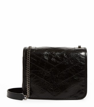 Saint Laurent Small Leather Niki Chain Wallet