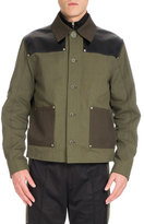 Givenchy Workwear Twill Utility Jacket, Dark Green