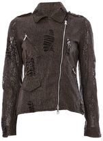 Giorgio Brato textured biker jacket
