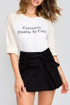 Wildfox Couture Don't Care Raglan Tee