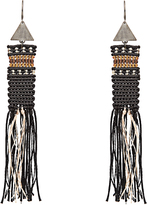ZEUS + DIONE Roxanne macramé silk earrings