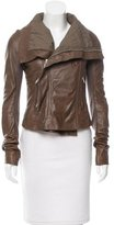 Rick Owens Wool-Accented Leather Jacket