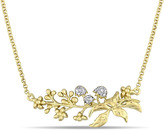 Laura Ashley Yellow-Plated 2-Tone Sterling Silver Floral Branch Necklace