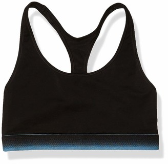 Mae Amazon Brand Women's Sporty Cotton Bralette with Ombre Elastic (for A-C cups)