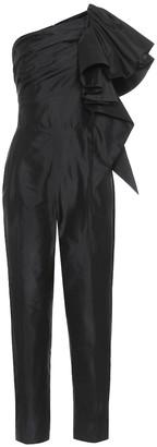 Rasario Ruffled silk jumpsuit