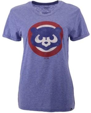 '47 Chicago Cubs Women's Throwback Match Tri-blend Hero T-Shirt