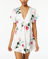 Kate Spade Floral-Print Charmeuse Robe