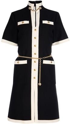Gucci Contrast Trim Dress