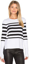 Autumn Cashmere Hi Lo Stripe Sweater