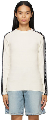 we11done Off-White Jacquard Logo Sweater
