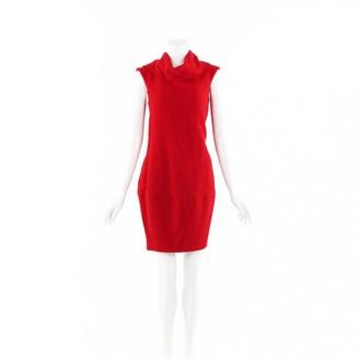 Oscar de la Renta Red Cotton Dresses