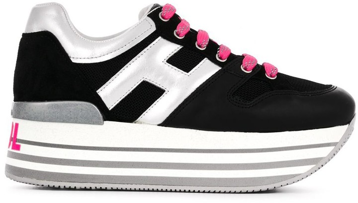 Hogan logo lace-up sneakers