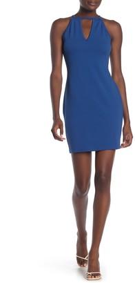 Material Girl Halter Neck Bodycon Dress