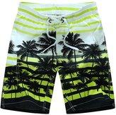 YOUJIA Men Shorts Striped Surf Beachwear Casual Loose Board Short (, XL)