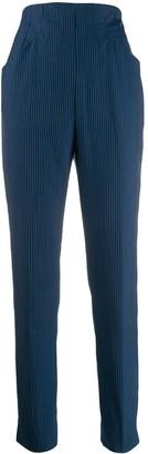 Romeo Gigli Pre Owned 1990's Pinstripe Super Skinny Trousers