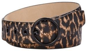 Steve Madden Leopard-Print Belt