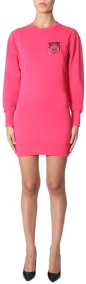 Moschino Teddy Logo Sweater Dress