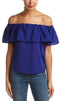 French Connection Women's Polly Plains Ruffle Hem Tank Top