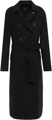 Maje Double-breasted Wool-blend Coat