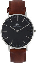 Daniel Wellington Classic Black Collection St Mawes 40mm Silver