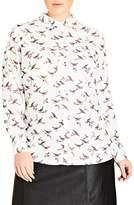 City Chic Plus Size Women's Birdy Shirt