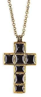 Gucci Men's Enameled Cross Pendant Necklace