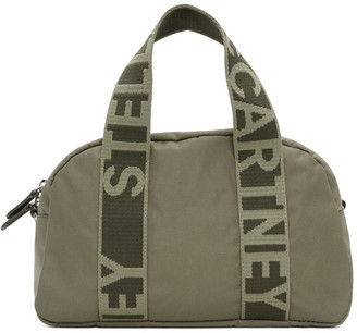 Stella McCartney Khaki ECONYL Medium Boston Bag