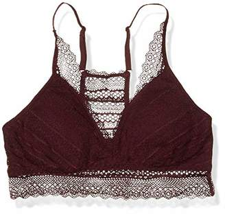 Mae Stripe Lace Racerback Bralette with Removable Pads Bra,US S (EU S - M)