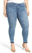 Melissa McCarthy Plus Size Women's Splattered Pencil Leg Jeans
