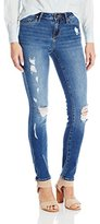 Calvin Klein Women's Ultimate Skinny Rip and Repair Jean Classic Blue Wash