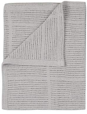 John Lewis & Partners Baby Cot/Cotbed Cellular Blanket, Grey