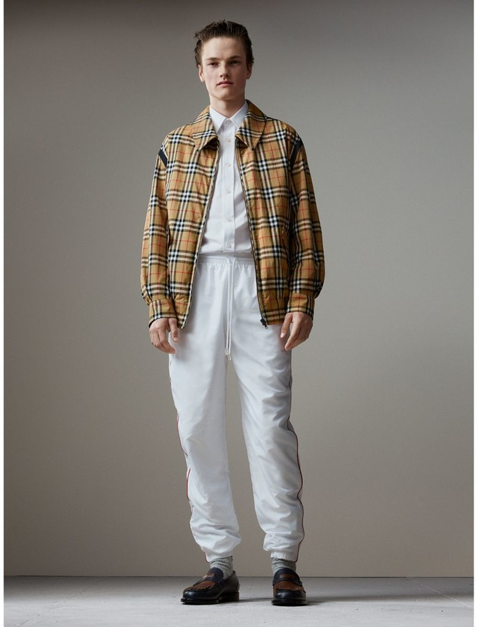 Burberry Vintage Check Gabardine Harrington Jacket