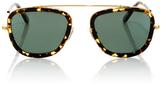 Krewe Huey Zulu Square-Frame Acetate and Metal Sunglasses