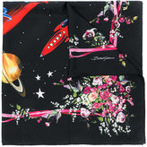 Dolce & Gabbana Love floral print scarf