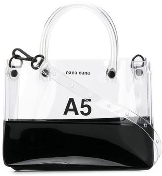 Nana Nana PVC x Opaque A5 tote bag