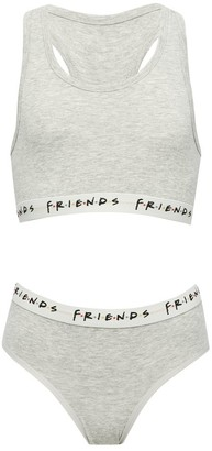 M&Co Friends racer back bra and brief set