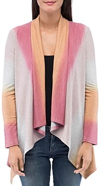 Bobeau B Collection by Amie Dip-Dyed Open Front Cardigan