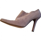 Christian Dior Purple Leather Ankle boots