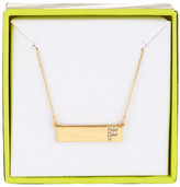 BaubleBar 14K Gold Plated Ice &F& Initial Bar Pendant Necklace
