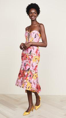 Nicholas Tropical Lace Dress