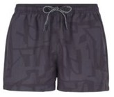 Boss Quick-dry swim shorts with abstract print