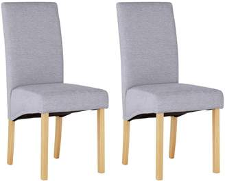 Argos Home Pair of Fabric Skirted Dining Chairs