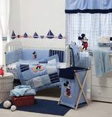 [Blue Mickey Mouse] Crib Bedding Set Bedding Collection (4PC Bedding Set + extra 1 Bumper)