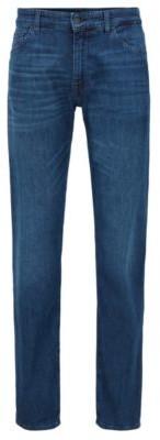 HUGO BOSS Regular Fit Jeans In Lightweight Italian Stretch Denim - Blue