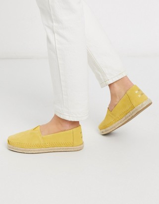 Toms alpargata leather espadrilles in yellow